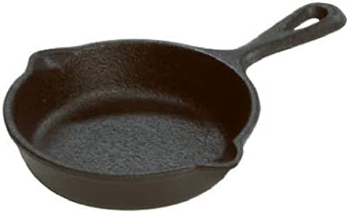 """Lodge Mini Cast Iron Skillet, 3.5"""", Black, LMS3"""