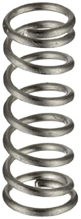 "Stainless Steel 316 Inst Comp Spring, 0.088"" OD x 0.01"" Wire Size x 0.25"" Free Length (Pack of 10)"