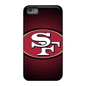 Shock Absorbent Hard Cell-phone Cases For Apple Iphone 6 With Unique Design High Resolution San Francisco 49ers Series JacquieWasylnuk