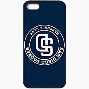 Personalized iPhone 5 5S Cell phone Case/Cover Skin Baseball San Diego Padres 4 Sport Black