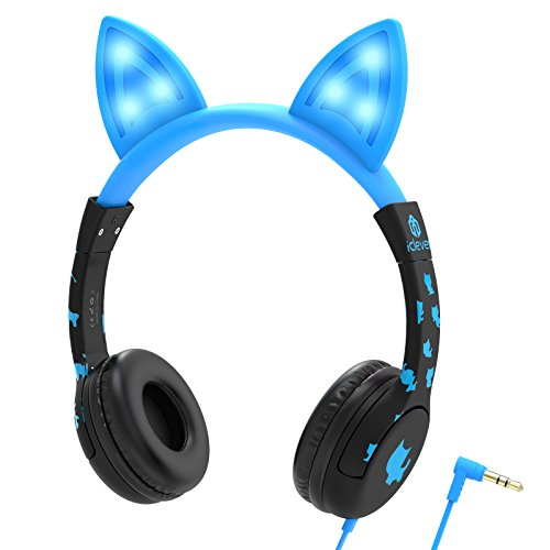 iClever Headphones Cat Inspired Headsets Flashlight