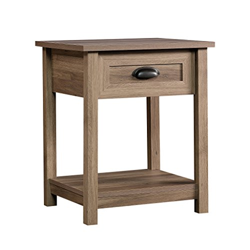 Bedroom Oak Accent Table - Sauder 417771 County Line Side Table/Night Stand, L: 19.84