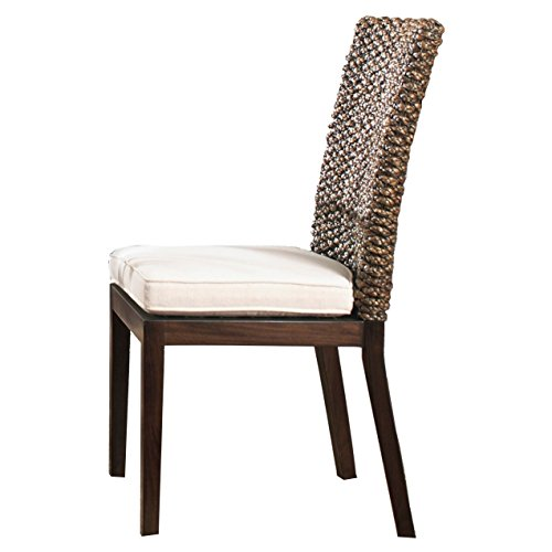 Panama Jack Sunrooms PJS-1001-ATQ-S Sanibel Side Chair with Cushion, Light Beige price