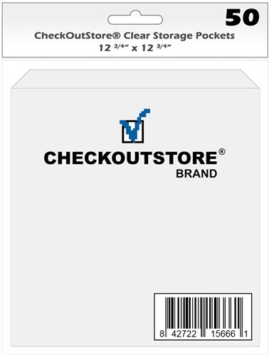 CheckOutStore 500 Cardstock Clear Storage Pockets (12 3/4 x 12 3/4)