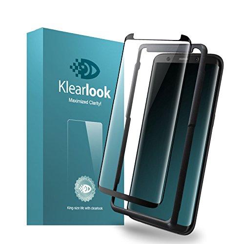 レモンタクト望まないKlearlook Samsung Galaxy S8 Plus用強化ガラスフィルム 「改善版 貼付け易い道具付」 「ケースに干渉せず」 タッチ感度良好 高透過率 (ガラス液晶面1枚+背面1枚+ガイドツール ) (S8 Plus)