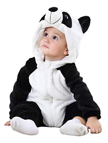 Abolai Unisex-Baby Flannel Onesie Winter Romper Animal Pajamas Jumpsuit Outfits Kids Panda -