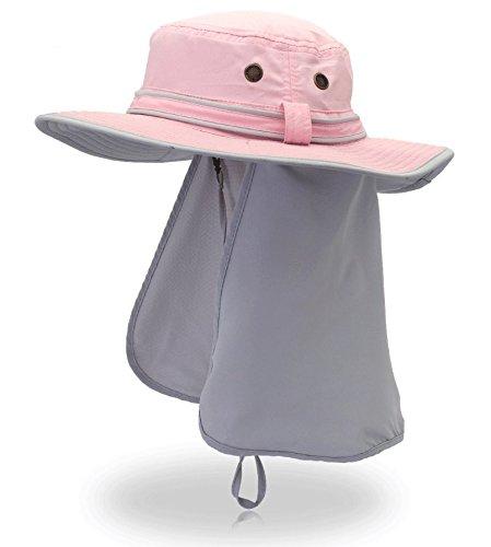 テーブル利得輝くOutfly UVカット帽子 サイトカバー付き 2way UPF50+  通気性よい アウトドア 自転車 農作業 男女通用 日除け帽子