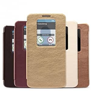 KALAIDENG KA Series Protective Leather Case For LG G2 @ Color==Coffee