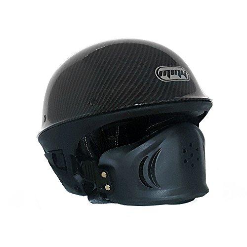 Motorcycle Vader Street Half Helmet DOT Approved - Carbon Fiber (X-Large) (Motorcycle Helmets Carbon Fiber)