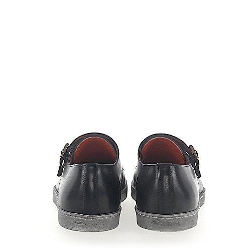 Sneaker Doppio Monaco 15021 In Pelle Notte Blu Grigio