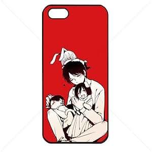 Shingeki no Kyojin Attack on Titan Manga Anime Comic Apple iphone 5c TPU Soft Black or White case (Black)