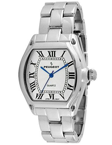(Peugeot Women's  Silver Tank Roman Numeral Bracelet Dress Watch 7069S)