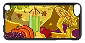 Exquisite Design Nice Painting Fall harvest Covered on Black PC Apple iPod Touch 5 Shell Case-06