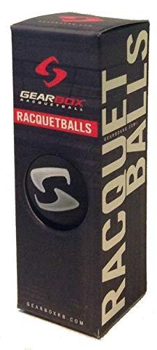 Gearbox Racquetball – 3 Ball Pack – Sleek Black – DiZiSports Store