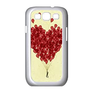 Jumphigh Heart Samsung Galaxy S3 Cases Rea Balloon Heart, Heart [White]