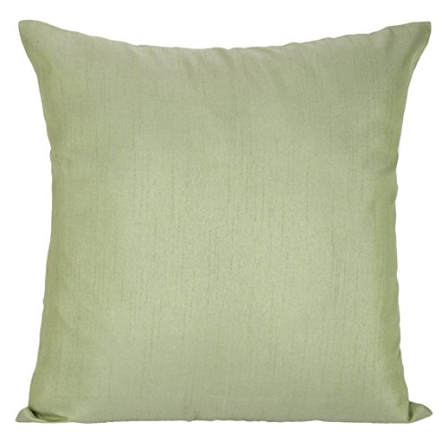 Set of 2 Guilford Green Sham Covers, Plain Silk Sham Cover, Solid Decorative Sham, Accent Sham, Guilford Green Euro Sham Cover, (26x26 inches, Guilford Green)