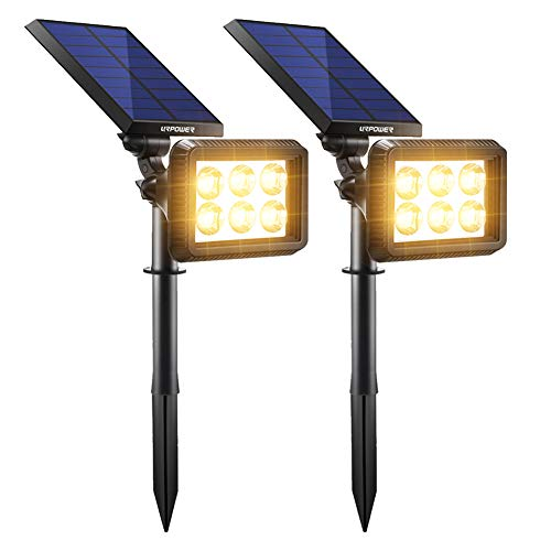 Warm White High Output Solar Spot Light