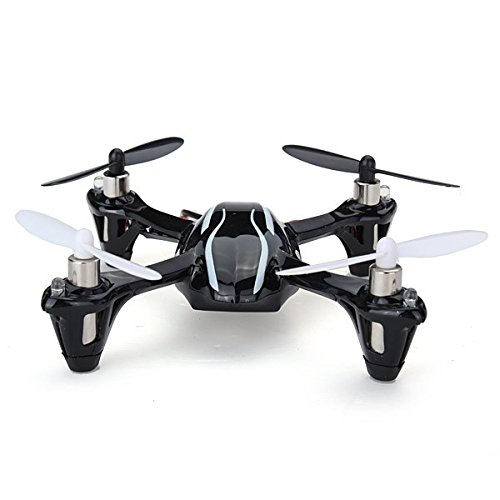 Hubsan X4 H107L 2.4GHz 4CH RC Quadcopter with LED Lights RTF, Black/White