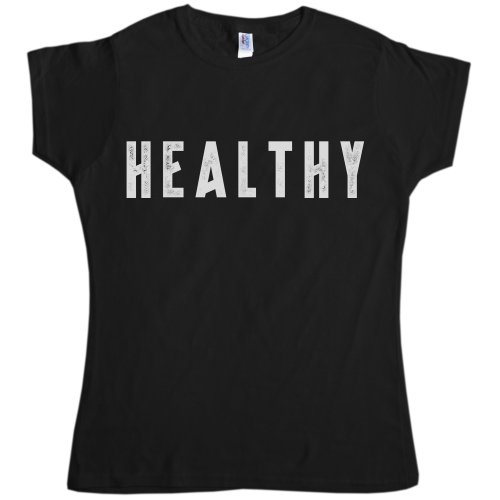 Womens As Worn By Madonna Healthy Slogan T Shirt