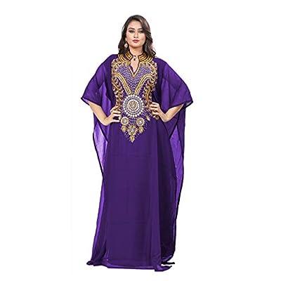 KoC Women's Kaftan Maxi Dress Farasha Caftan KFTN116-Purple at  Women's Clothing store