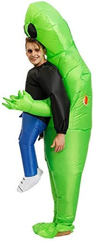 BSOL Inflable Ropa, Verde Aliens Llevar Humano Inflable Divertido ...