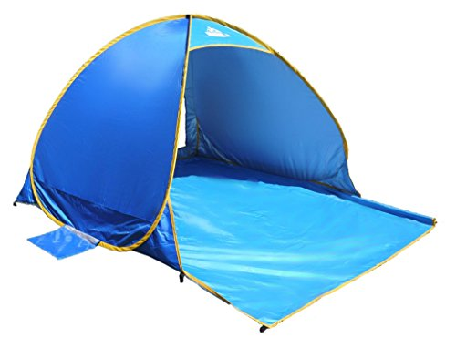 Easy Fit Sun Visor - OutdoorsmanLab Automatic Pop Up Beach Tent, Lightweight For Family with UV 50+ Protection, Easy Carrying Bag, Wind Resistant Features