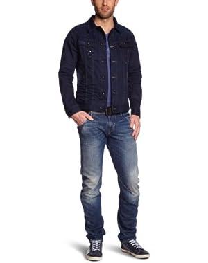 Men's Slim Tailor Denim Jacket