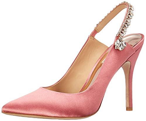 Badgley Mischka Women's Paxton Pump Rose Satin 8.5 M US (Shoes Pink Designer)