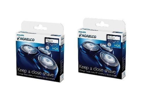 2x Brand New Philips Norelco Hq8 Spectra / Sensotec Razor Shaver Hq 8 Heads Good Product Fast Shipping