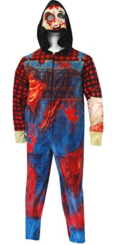 Zombie Farmer One Piece Union Suit Pajama for men (X-Large)