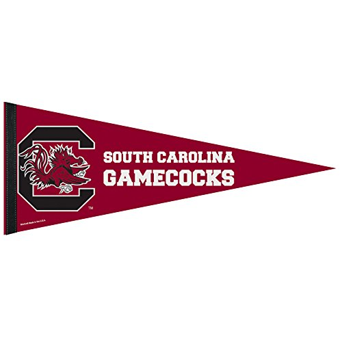 (WINAV NCAA South Carolina Gamecocks Premium Pennant, 12 x 30, Team Color)