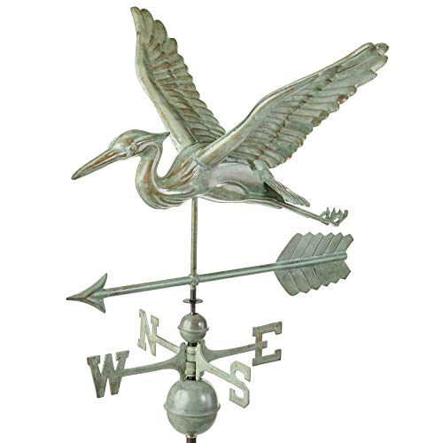 Good Directions, Inc. 9606V1A Blue Heron Arrow Weathervane, - Weathervane Arrow Blue