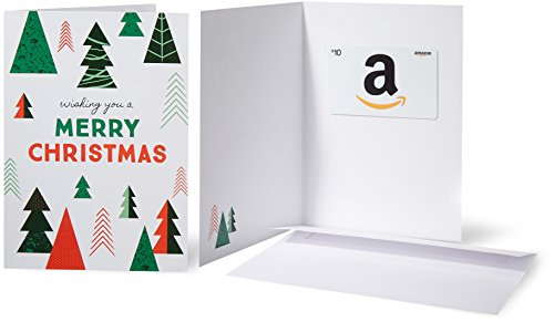 Amazon.com $10 Gift Card in a Greeting Card (Christmas Tree) ()