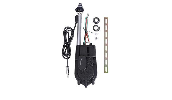 Sdkmah9 - Kit de montaje de antena eléctrica para coche (12 V ...