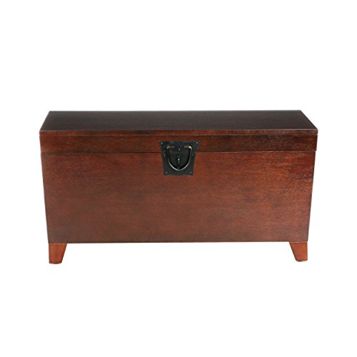 Southern Enterprises Pyramid Storage Trunk Cocktail Table, Espresso Finish - Trunk Table