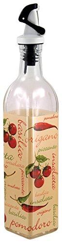 Grant Howard Insalata Pomodoro Oil & Vinegar Cruet, 16 oz, Red/Beige