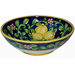 Limoni Hand Painted Italian Ceramic Bowl Made in Italy