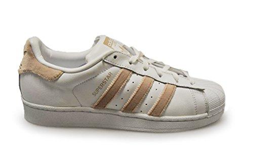 Adidas Womens - Superstar W - White fur Beige Wheat - BA7493