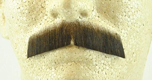 Gentleman Moustache MEDIUM BROWN - 100% Human Hair - no. 2011 - REALISTIC! Perfect for Theater - (Theatrical Moustaches And Beards)