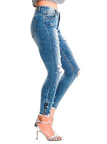 Light para Blue Denim Light Mujer Skinny Azul Denim Only Blue Vaqueros qwxUX4T4O