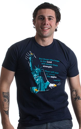 Isaiah 40:31 Eagles Wings Christian Hope in the Lord America USA Unisex T-shirt
