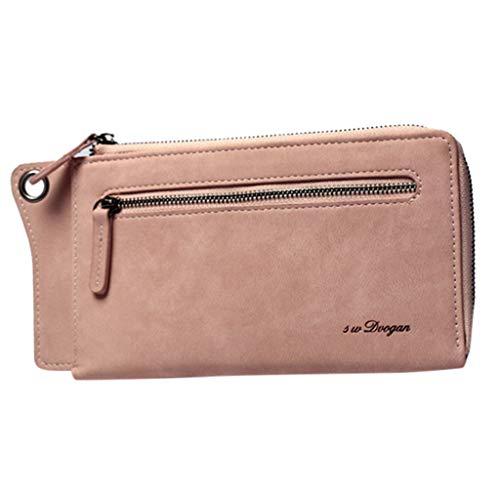 JESPER Women's Zipper Pouch Wallet Thin Lightweight Everyday CarryAll Slim Wallet Ladies Wristlet