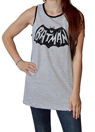 Batman+tank+top Products : Batman 66 Logo Adult Gray Tank Top