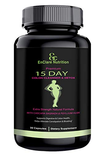 DETOX COLON CLEANSE FOR WEIGHT LOSS. 15 Day Fast-Acting Detox Pills, Extra-Strength with Natural Laxatives, Probiotic…