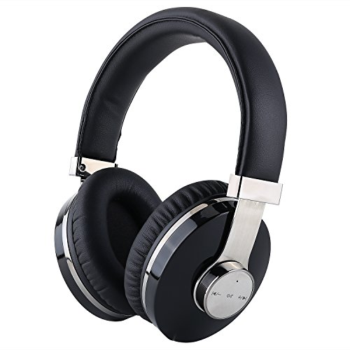 Bluetooth Headphones Over Ear, Mee'sport Wireless Bluetooth Headset with Build-in Mic, Hi-Fi Deep Bass Wireless Headphones Up to 24 Hours Playtime for Cell Phones, TV, Computer and More -Black