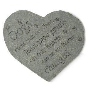 Dog Speak Heart Dog Memory Stone- -