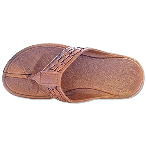 Weave Brown Pali Thong Hawaii Sandals qXW5xYAw