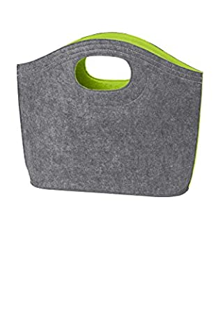 Port Authority luggage-and-bags Felt Hobo Tote OSFA Charge Green/ Felt Grey