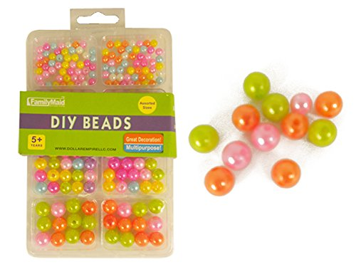 DIY Craft Beads Assorted Sizes & Colors , Case of 144