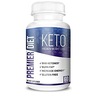 Premier Diet KETO - Keto BHB Supplement with 800mg Ketone Salts for Ketosis, and Perfect Energy - 60 Keto Pills (Capsules) - Beta Hydroxybutyrate Base Pure Exogenous Ketones